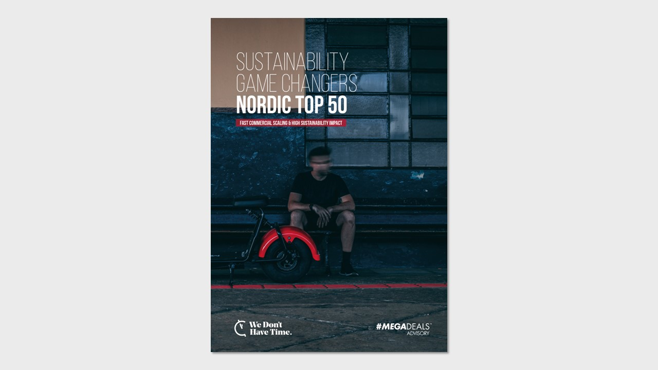 Cover of the report Nordic Top 50 Game Changers Sustainability